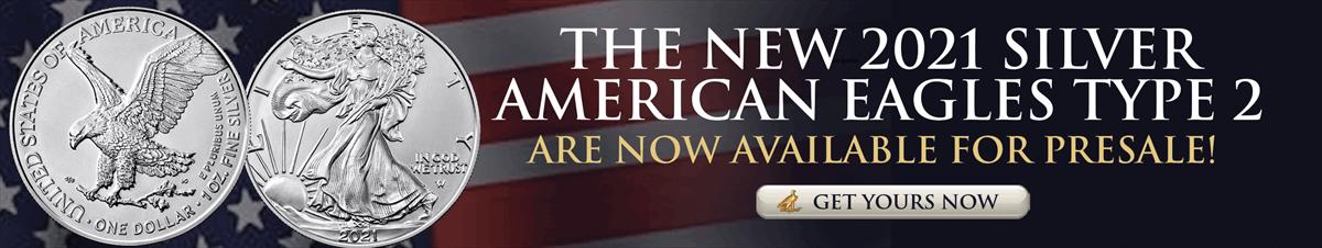 Pre-sale-2021 Silver American Eagles Type 2