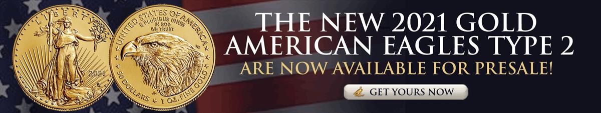 Pre-sale 2021 Gold American Eagles