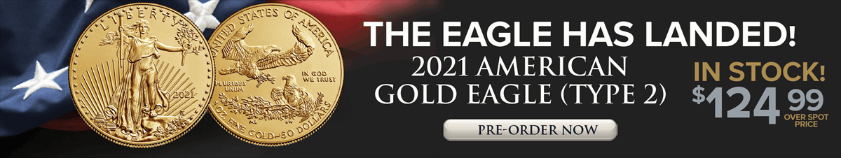 2021 Gold American Eagles Type 2 - In Stock