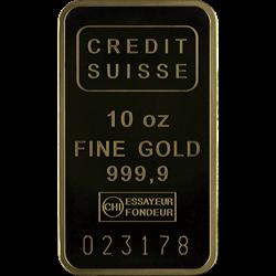 10 OZ GOLD BAR CREDIT SUISSE