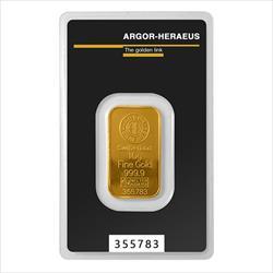 10 GRAM GOLD BAR ARGOR-HERAEUS