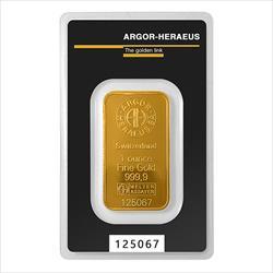 1 OZ GOLD BAR ARGOR-HERAEUS KINEBAR