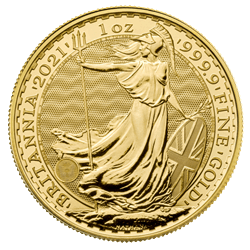 2021 1 OZ GREAT BRITAIN GOLD BRITANNIA