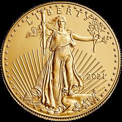 2021 1 OZ AMERICAN GOLD EAGLE TYPE 1 REVERSE