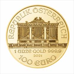 2021 1 OZ AUSTRIAN GOLD PHILHARMONIC