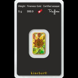 5 GRAM GOLD BAR ARGOR-HERAEUS KINEBAR