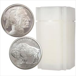 Roll of 1oz Silver Buffalo Rounds Made by the Golden State Mint