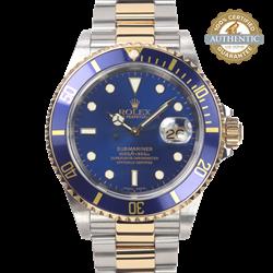 Rolex 40mm Submariner 166013 TT SS & 18K YG Bluesy  Watch Only