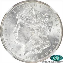 1900-O/CC Morgan Silver Dollar NGC and CAC  MS63 Top-100