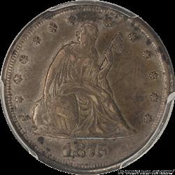 1875-CC US Twenty Cent Piece PCGS XF45 - Nice Original Appearance