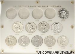 1954-1963 Franklin Half Dollar Proof Set In a capitol Plastic Holder