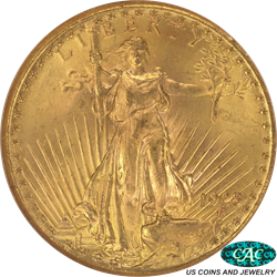 1928-P Saint Gaudens $20 Gold Double Eagle NGC MS 65 CAC - Very Nice Coin
