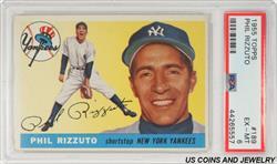 1955 TOPPS PHIL RIZZUTO $189 PSA EX-MT 6