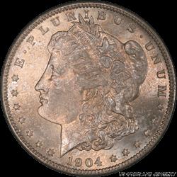 1904-O Morgan Silver Dollar, PCGS MS 65 - Attractive Toning