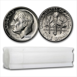Roll 90% Silver Roosevelt Dimes 50 total coins