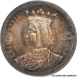 1893 25C Isabella Commemorative Quarter PCGS MS 62 - Great Toning and Eye Appeal