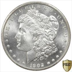 1902-S Morgan Silver Dollar PCGS MS65 Frosty White GEM BU