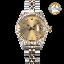 Rolex 26mm Oyster Perpetual Date 6917 TT SS & 18K YG w DB Watch Only