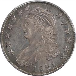 1821  Overton 107 Capped Bust Half Dollar PCGS and CAC AU53