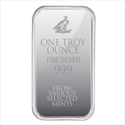 1 OZ SILVER BAR RAW