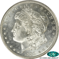 1889-S Morgan Silver Dollar PCGS and CAC MS64+