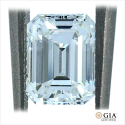 1.06 ct GIA Certified Emerald Cut Diamond F color VVS1 Clarity