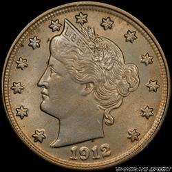 1912-S Liberty V Nickel  PCGS MS65