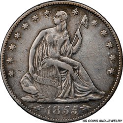 1855-S Seated Liberty Half Dollar PCGS XF Details - Repaired - Rare Coin