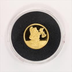 Disney Rarities Mint 1/4 Troy OZ 999 Gold DOC from Snow Whites 50th Anniversary Series