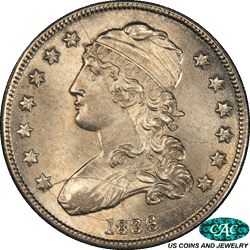 1836 Capped Bust Half Dollar PCGS CAC MS64