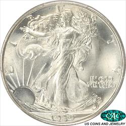 1939-S Walking Liberty Half Dollar PCGS and CAC MS67+
