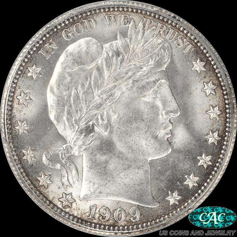 1909 Barber Half Dollar PCGS and CAC