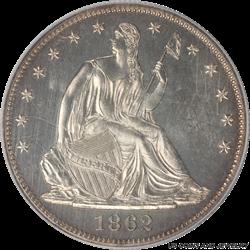 1862 Gem Proof Pattern Half Dollar Judd-293 PCGS PR-64