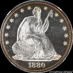 1880 Seated Liberty Half Dollar - Super Nice Look - NGC Proof 63