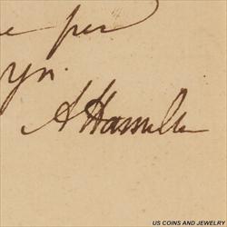 Alexander Hamilton Signed Letter, Verified JSA (James Spence Authentication)