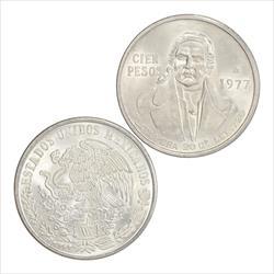 Random Date Mexico Cien Pesos Silver 20 grams .720 Fine Silver AU - BU