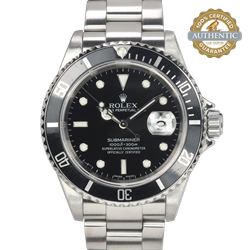 Rolex 40mm Submariner Date 16610 A Stainless Steel Classic Watch Only
