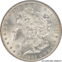 1885-O Morgan Silver Dollar PCGS MS64 McClaren Collection II