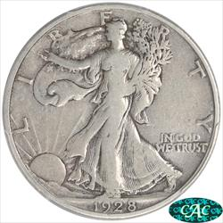 1928-S Walking Liberty Half Dollar PCGS and CAC F15