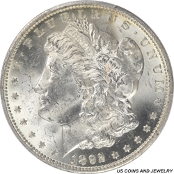 1892-O Morgan Silver Dollar PCGS MS62 Better Date Coin
