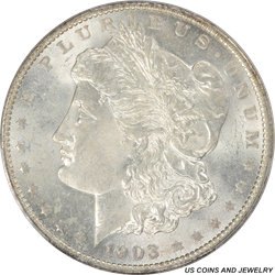 1903-O Morgan Silver Dollar PCGS MS64 Frosty White Key Date