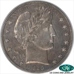 1913 Barber Half Dollar Proof PCGS and CAC PR62 Very Original Surfaces