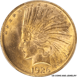 1926 Indian $10 Gold Eagle PCGS MS64 Frosty Brilliant Luster