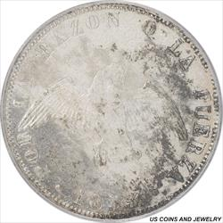 Chile: 1853-So Fifty Centavos Silver  PCGS