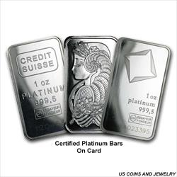 1 OZ CERTIFIED PLATINUM BAR