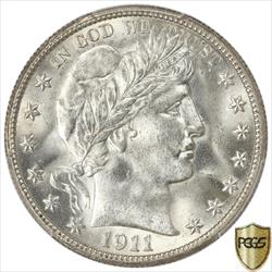 1911 Barber Half Dollar PCGS MS64+ Frosty White Coin