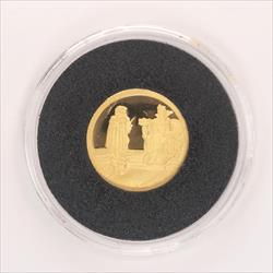 Disney Rarities Mint 1/4 Troy OZ 999 Gold THE HUNTER & QUEEN - Snow Whites 50th Anniversary Series