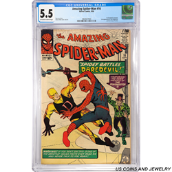 Amazing Spider-Man #16 Spidey Battles Daredevil Featuring the Eerie Menace of the Ringmaster CGC 5.5