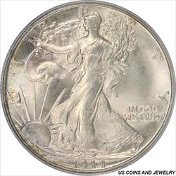 1944-S Walking Liberty Half Dollar PCGS MS65 Frosty White
