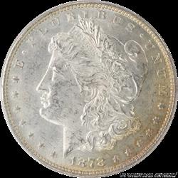 1878 7TF  Morgan Silver Dollar Reverse of 1878 PCGS MS63